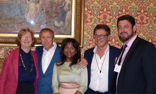 Baroness Meacher, Paul Hardcastle, Nicky and Neil Utley, Rob Paxman